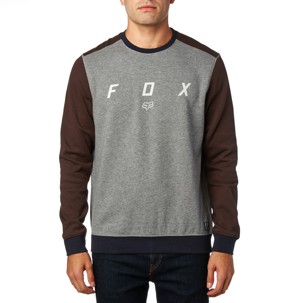 FOX  District Crew Fleece pulóver HTR GRH