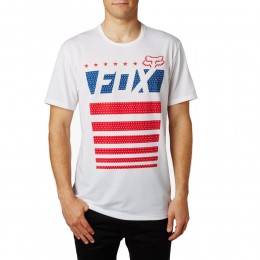 FOX Red, White & True SS Tech Tee póló OPT WHT