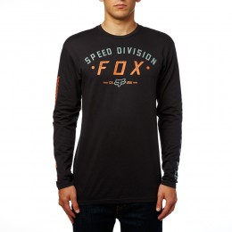 FOX póló Ground Fog LS Tee póló BLK