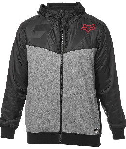Fox pulóver axle zip fleece blk