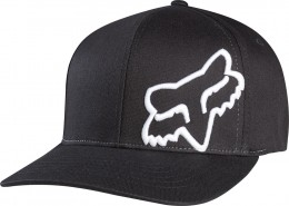 FOX  flex 45 flexfit hat  sapka BLK/WHT