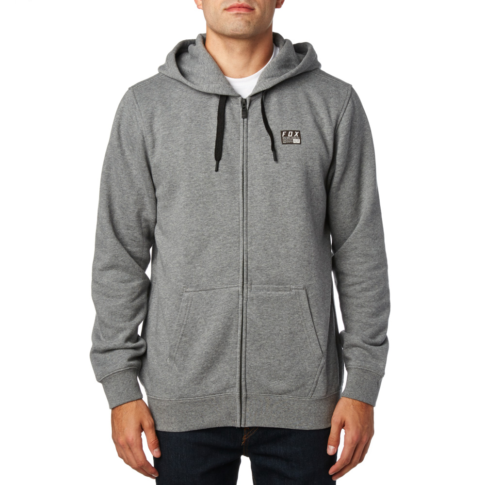 FOX  pulóver District 1 Zip Fleece HTR GRH