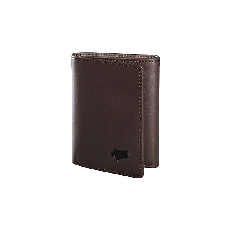 FOX pénztárca leather trifold wallet Brown