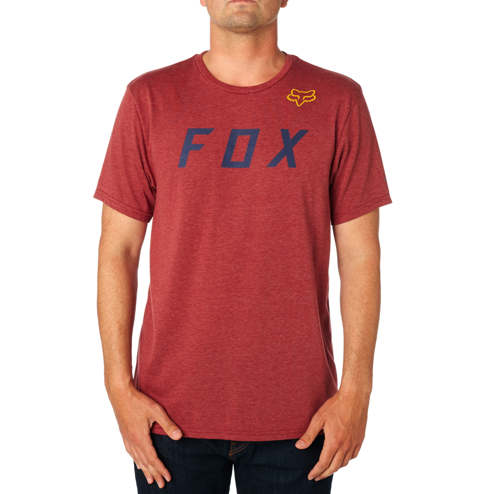 FOX póló Grizzled SS Tech Tee burgundy