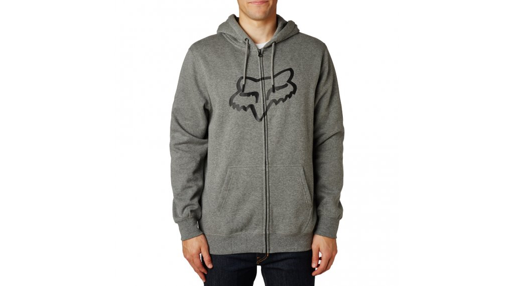 FOX pulóver Foxhead Zip Fleece grafit
