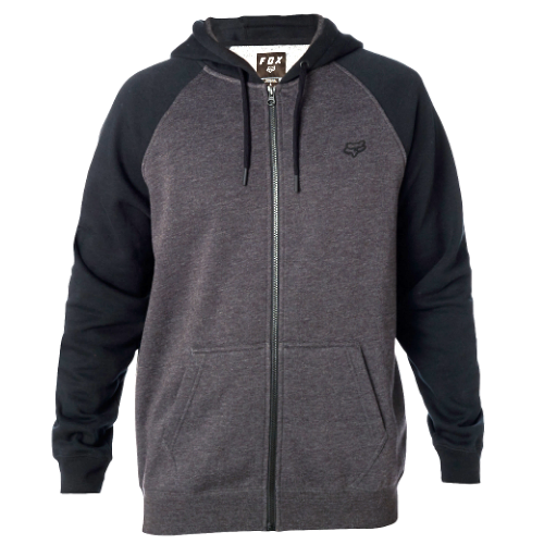FOX pulóver Legacy Zip Fleece blk chr