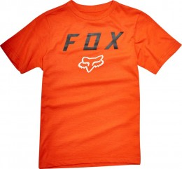FOX póló Youth Boys Contended Short Sleeve T-Shirt org