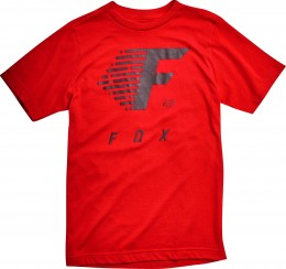 FOX póló fade to track ss tech tee (134) drk red