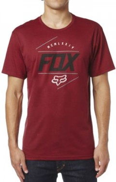 FOX póló looped out ss tee HTR RD